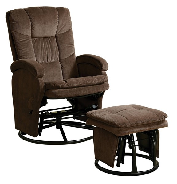Coaster Furniture Chocolate Glider with Ottoman CST-600159