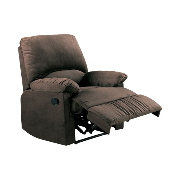 Coaster Furniture Chocolate Fabric Recliner CST-600266