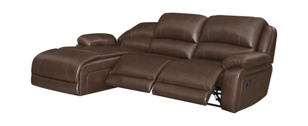 Coaster Furniture Mackenzie Chestnut 3pc Motion Sectional with 3 Recliner CST-600357B