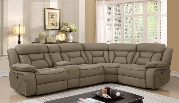 Coaster Furniture Camargue Tan Sectional CST-600380