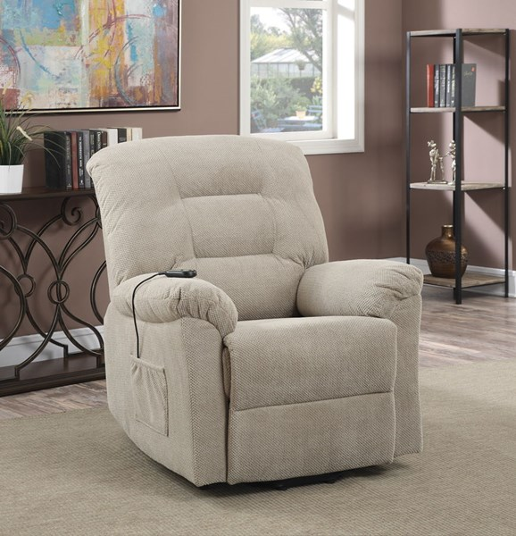 Taupe Fabric Power Lift Recliner CST-600399