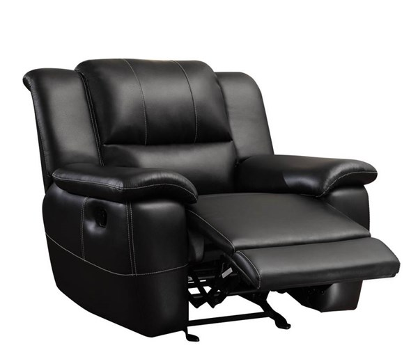 Lee Motion Black Bonded Leather Glider Recliner CST-601063