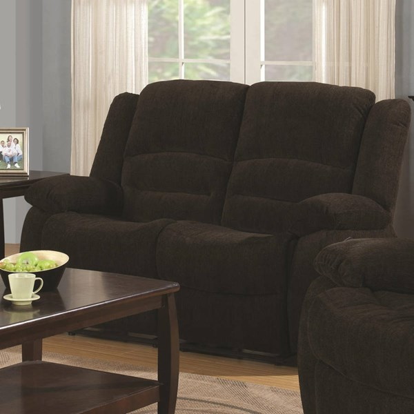 Coaster Furniture Gordon Chocolate Motion Loveseat CST-601462