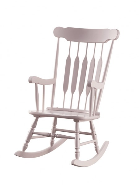Traditional Pink Wood Arrow Back Curve Head Rest Rocking Chair CST-601497