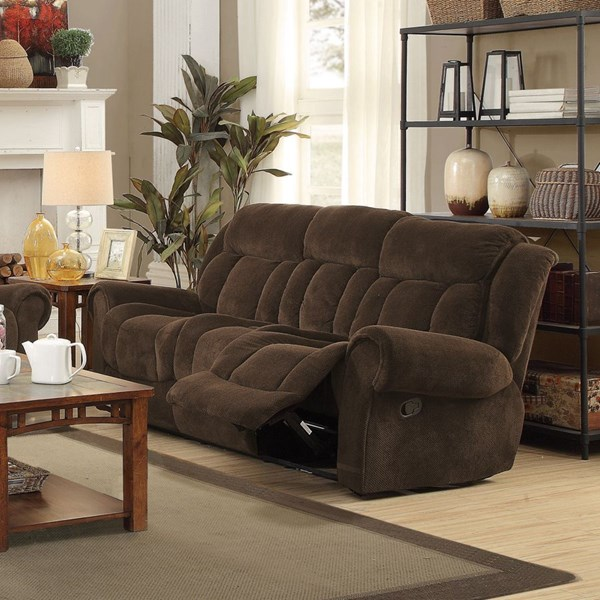 Reige Motion Chocolate Textured Chenille Sofa CST-601594