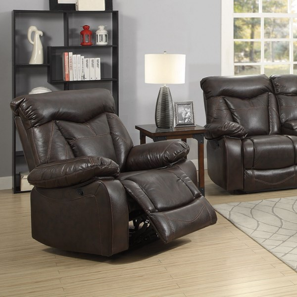 Zimmerman Dark Brown Faux Leather Recliners CST-60171-REC-VAR
