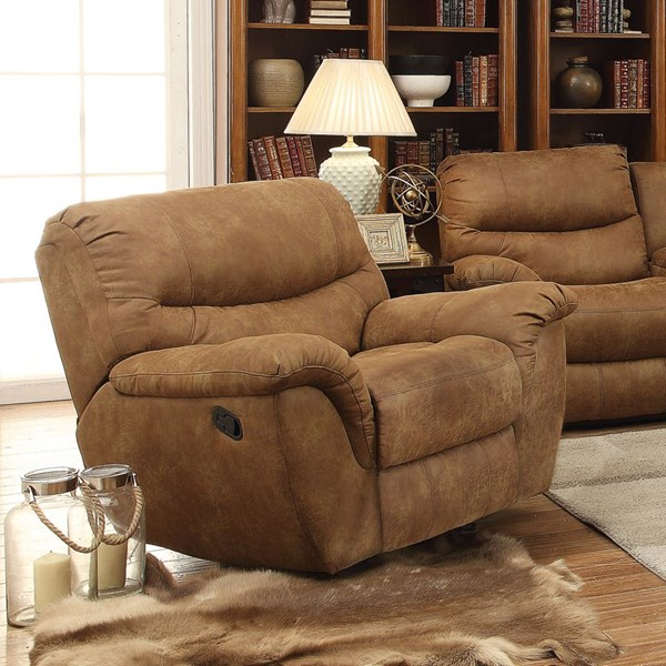 Hancox Motion Light Brown Microfiber Power Recliner CST-601763P
