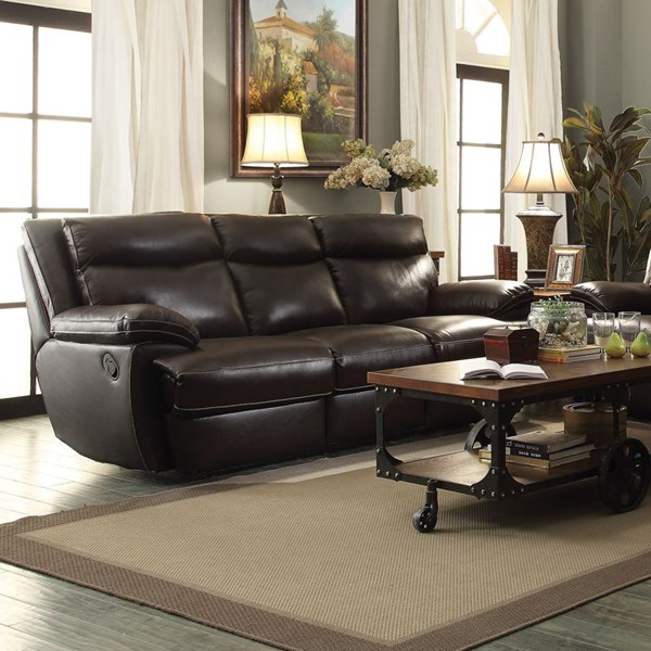 Macpherson Motion Cocoa Bean Leather Match Sofa CST-601811