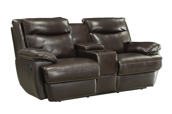Coaster Furniture Macpherson Motion Motion Loveseat with Console CST-601812