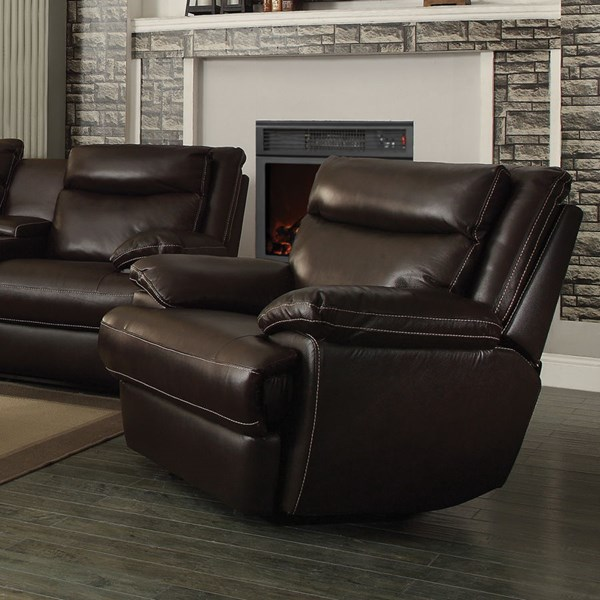 Macpherson Motion Cocoa Bean Leather Match Glider Recliner CST-601813