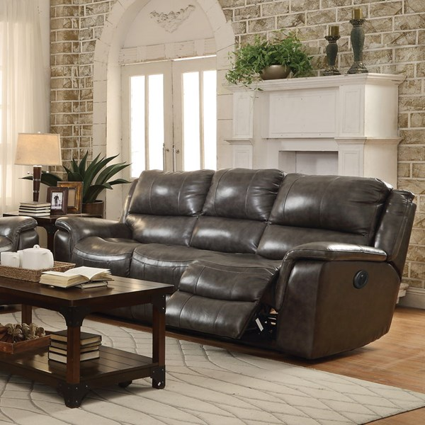 Wingfield Motion Charcoal Leather Match Power Sofa CST-601821P