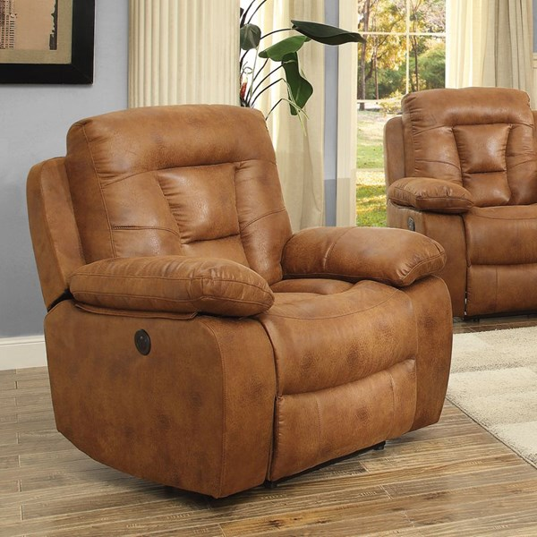 Evensky Motion Saddle Microfiber Power Recliner CST-601866P