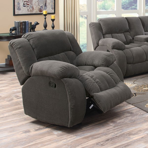 Weissman Motion Charcoal Fabric Recliners CST-601923-REC