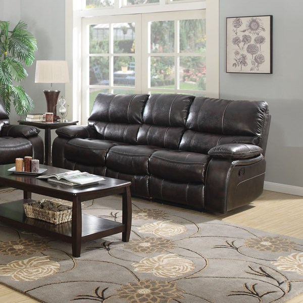 Willemse Motion Dark Brown Leatherette Sofa CST-601931