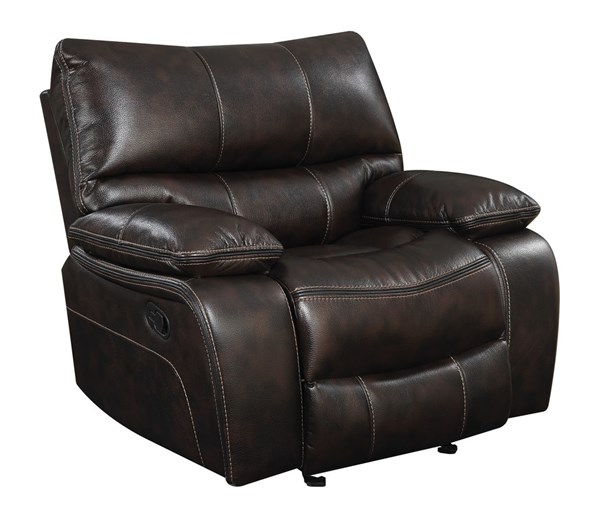Coaster Furniture Willemse Motion Brown Leatherette Glider Recliner CST-601933