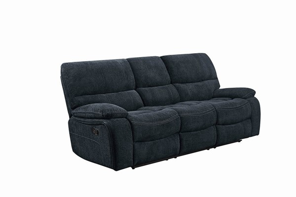 Coaster Furniture Perry Dark Grey Fabric Motion Sofa CST-601937
