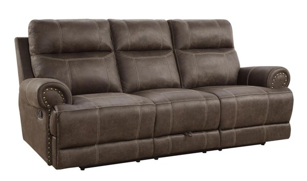 Coaster Furniture Brixton Buckskin Brown Motion Sofa CST-602441