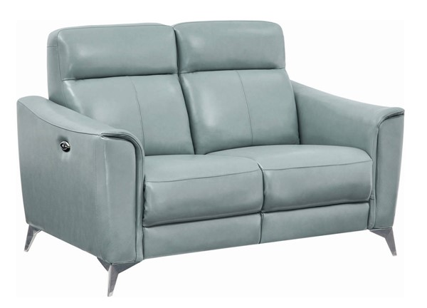 Coaster Furniture Alberta Dark Seafoam Power Loveseat CST-602492P