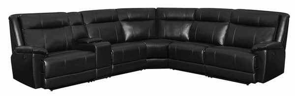 Coaster Furniture Cullen Black Faux Leather Sectional CST-603160