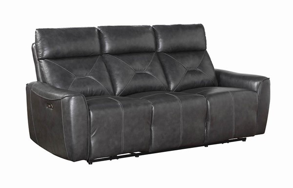 Coaster Furniture Jupiter Charcoal Power Sofa CST-603241PP