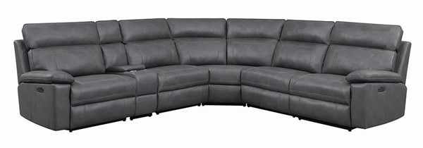 Coaster Furniture Albany Grey 6pcs Power Sectional CST-603270PP