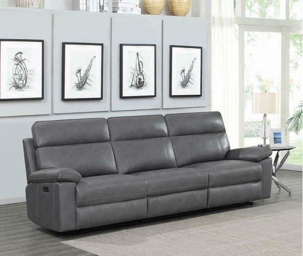 Coaster Furniture Albany Grey 3pc Power2 Sofas CST-60327PP-SF-VAR