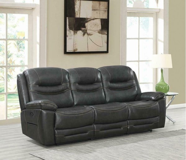 Coaster Furniture Destin Charcoal 3pc Power2 Sofas CST-60331PP-SF-VAR