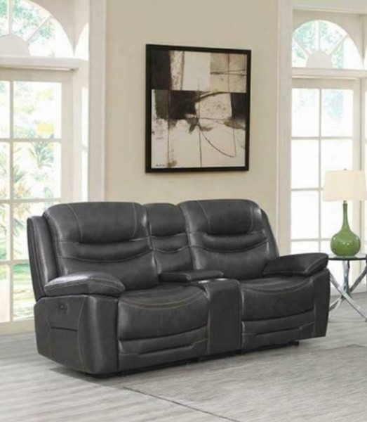 Coaster Furniture Destin Charcoal 3pc Power2 Loveseats CST-60331PP-LS-VAR