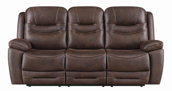 Coaster Furniture Hemer Chocolate Power Sofa CST-603331PP