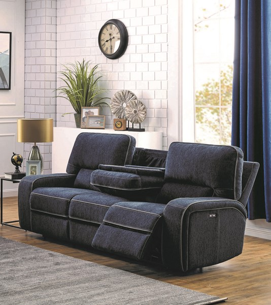 Coaster Furniture Groveland Navy Blue Power Sofa CST-603364PP