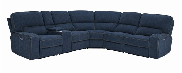 Coaster Furniture Dundee Navy Blue 6pc Power Sectional CST-603370PP