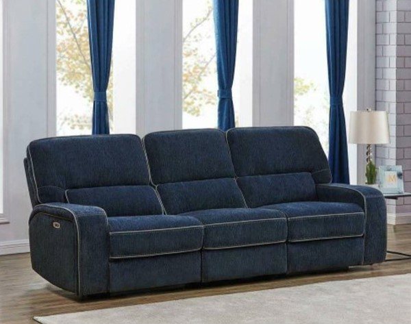 Coaster Furniture Dundee Navy Blue 3pc Power2 Sofas CST-60337-SF-VAR