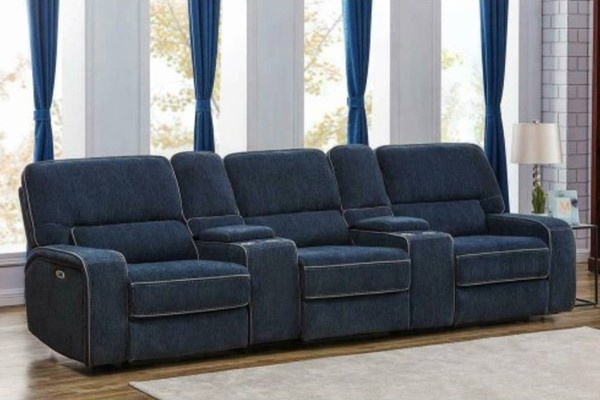Coaster Furniture Dundee Navy Blue 5pc Power2 Home Theaters CST-60337PPT-SEC-VAR