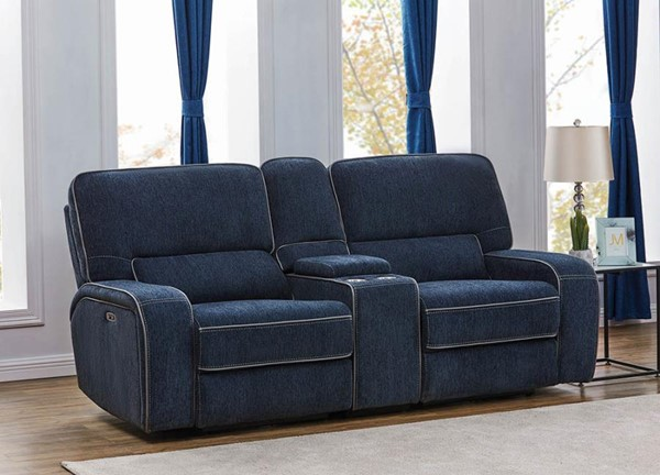 Coaster Furniture Dundee Navy Blue 3pc Power2 Loveseats CST-60337PP-LS-VAR