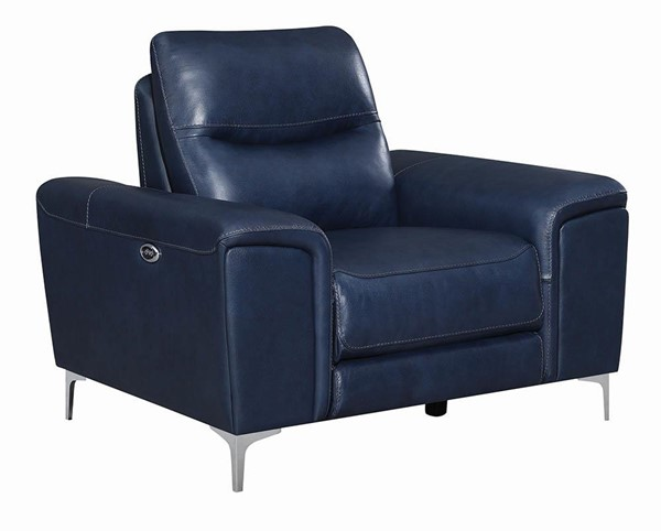 Coaster Furniture Largo Ink Blue Power Recliner CST-603393P