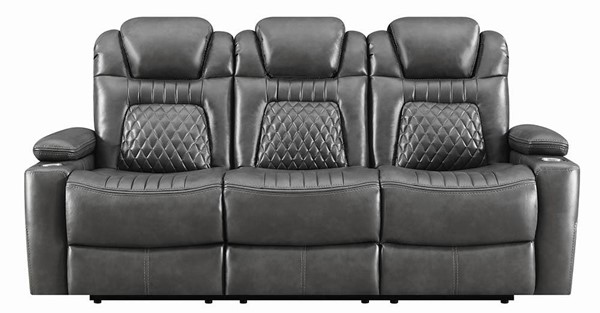 Coaster Furniture Korbach Charcoal Power Sofa CST-603414PP