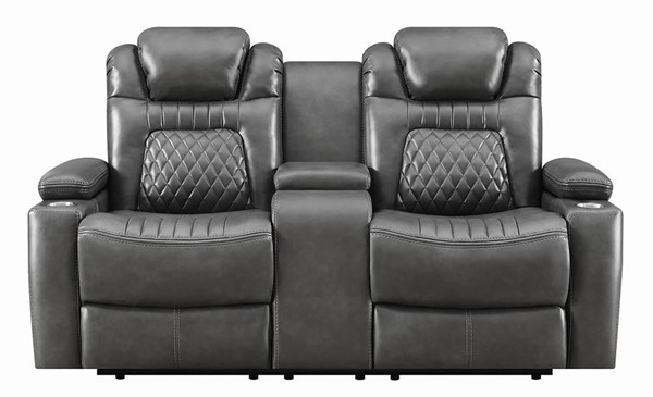 Coaster Furniture Korbach Charcoal Power Loveseat CST-603415PP