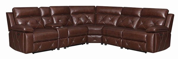 Coaster Furniture Chester Chocolate 6pcs Power Sectional CST-603440PP