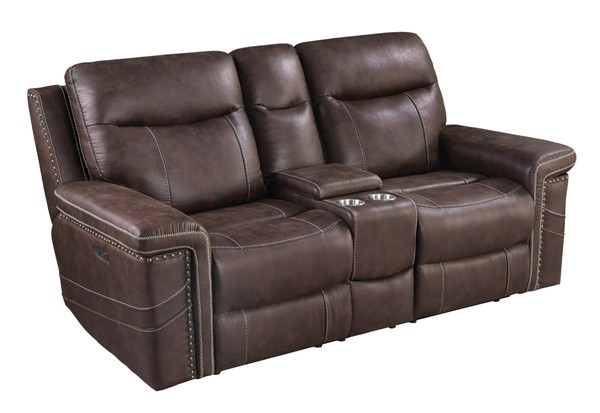 Coaster Furniture Wixom Brown Power2 Loveseats CST-60351PP-LS-VAR