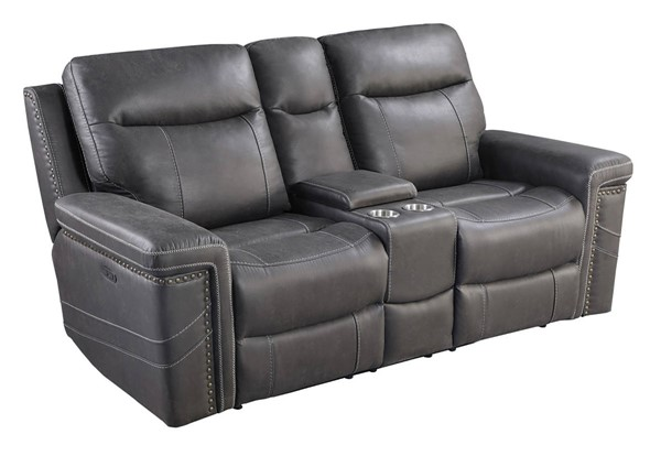 Coaster Furniture Wixom Charcoal Power2 Loveseat CST-603515PP