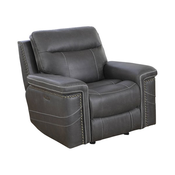 Coaster Furniture Wixom Charcoal Power2 Glider Recliner CST-603516PP