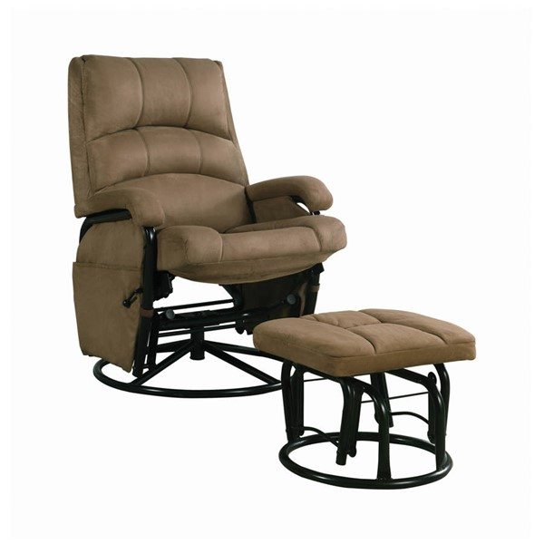 Coaster Furniture Brown Glider and Ottoman CST-650005