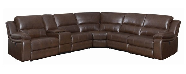 Coaster Furniture Channing Brown 6pc Power Sectional CST-650180