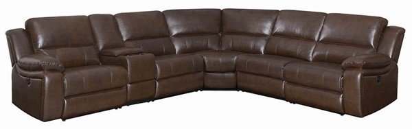 Coaster Furniture Channing Brown Faux Leather Sectional CST-650180