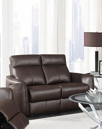 Remarkable Coaster Furniture Scranton Dark Brown Power Headrest Loveseat Home Interior And Landscaping Palasignezvosmurscom