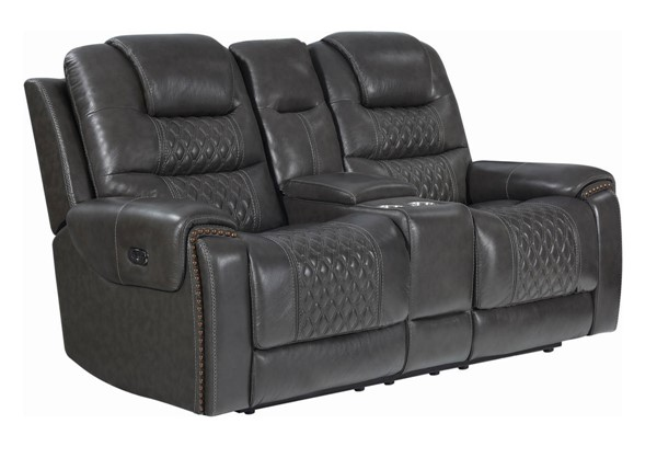 Coaster Furniture North Charcoal Power2 Loveseat CST-650408PP