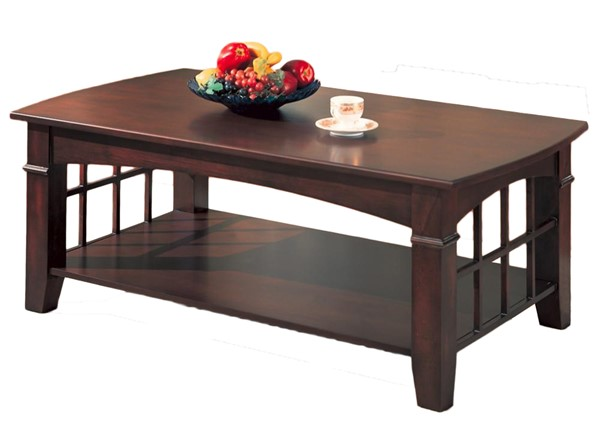 Coaster Furniture Merlot Wood Rectangle Coffee Table The Classy Home