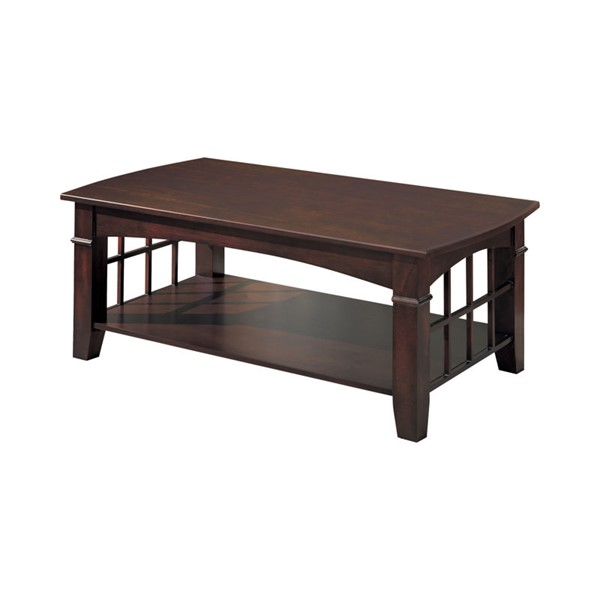 Coaster Furniture Merlot Wood Rectangle Coffee Table CST-700008