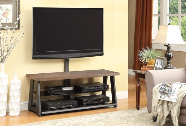 Brown Wood Metal TV Console CST-700217