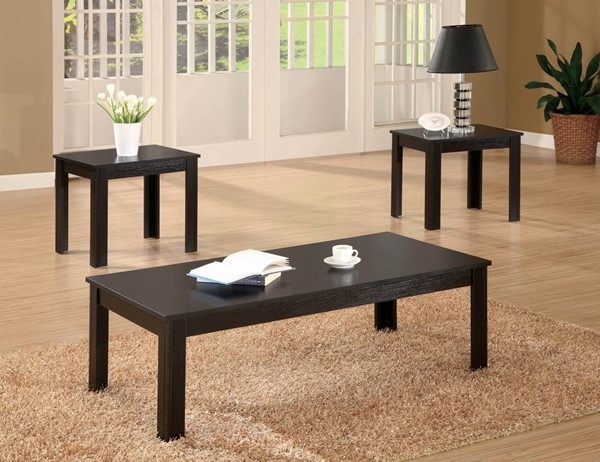 Coaster Furniture Black Wood Rectangle 3 In 1 Pack CST-700225